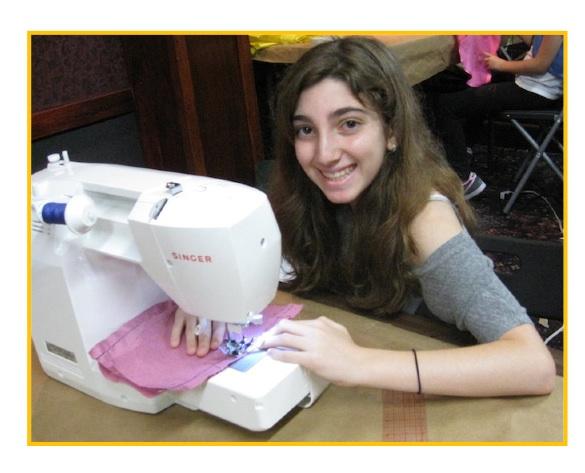 Marissa sewing