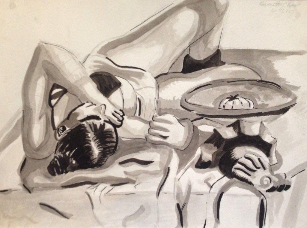 Garrett reclining figure